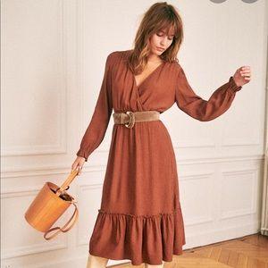 Sezane Titiane Dress in Hazelnut